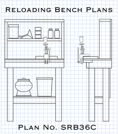 Picture of plans for how to build a closet reloading bench.