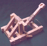 Ancient Roman catapult called a mangonel