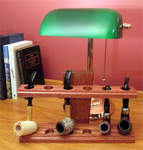 Craftsman style tobacco pipe rack