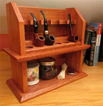 Craftsman cottage style tobacco pipe rack