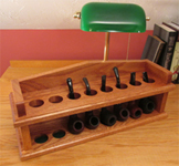 Mission style tobacco pipe rack