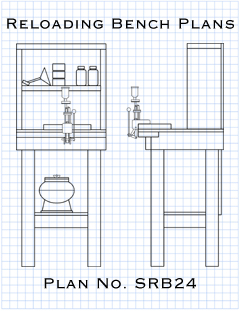 Picture of plans for how to build a small reloading bench.