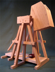 Scottish highland trebuchet catapult